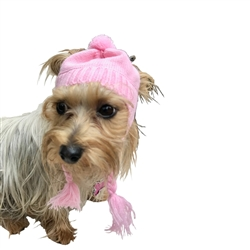Scottish Cable  knit Hat Pink