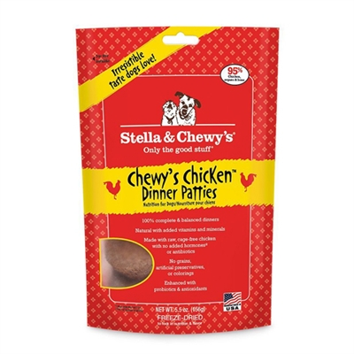 Stella & Chewys -Freeze-Dried Chewy's Chicken Dinners for Dogs - 5.5oz