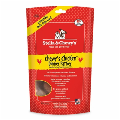 Stella & Chewys-Freeze-Dried Chewy's Chicken Dinners for Dogs - 14oz