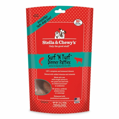 Stella & Chewys-Freeze-Dried Surf 'N Turf Dinners for Dogs - 14oz