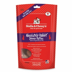 Stella & Chewys-Freeze-Dried Absolutely Rabbit Dinners for Dogs - 14oz
