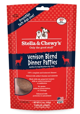 Stella & Chewys-Freeze-Dried Simply Venison Dinners for Dogs - 5.5oz
