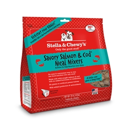 Stella & Chewys-Freeze-Dried Savory Salmon & Cod Meal Mixers for Dogs - 18oz