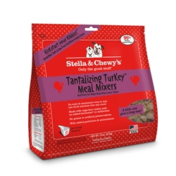 Stella & Chewys-Freeze-Dried Tantalizing Turkey Meal Mixers for Dogs - 18oz