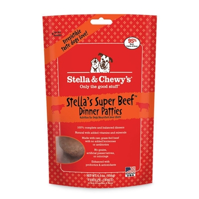 Stella & Chewys -Freeze-Dried Stella's Super Beef Dinners for Dogs - 25oz