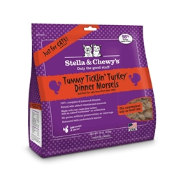 Stella & Chewys-Freeze-Dried Tummy Ticklin' Turkey Dinners for Cats - 18oz