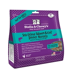 Stella & Chewys-Freeze-Dried Sea-Licious Salmon & Cod Dinners for Cats - 9oz