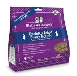 Stella & Chewys-Freeze-Dried Absolutely Rabbit Dinner for Cats - 3.5oz