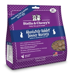 Stella & Chewys-Freeze-Dried Absolutely Rabbit Dinner for Cats - 8oz