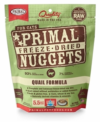 Primal Pet Foods Freeze Dried Food For Cats  Quail