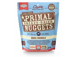 Primal Pet Foods Freeze Dried Food For Dogs- Quail Formula