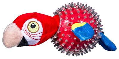 Parrot in Clear Spiky Ball - Lil' Squeakers Toy