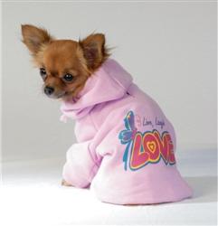 "HOODED SWEATSHIRT ""LOVE"" / PINK"