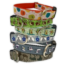 Creature Collection Ribbon Dog Collars & Leashes by Poochie-Pets
