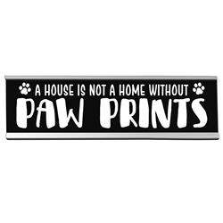 "Paw Prints 8"" Desk Sign"