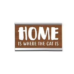 "Home Cat 4"" Desk Sign"