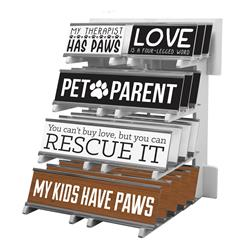 Desk Sign Counter Display from Pet Notable