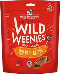 Stella & Chewys Dog Freeze Dried WEENIE Beef Formula