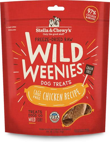 Stella & Chewys Dog Freeze Dried WEENIE Chicken Formula