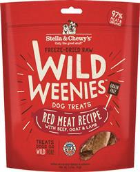 Stella & Chewys Dog Freeze Dried WEENIE Red Meat 3.25 oz.