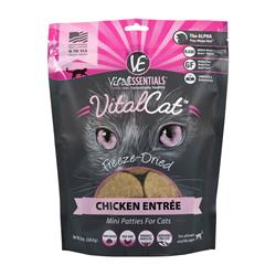Vital Essentials Cat Freeze Dried Mini Patty Chicken 8 oz.
