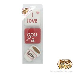 Smooch Your Pooch, Prepackaged I Love You a Latte 3pk, 6/case, MSRP $9.99