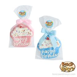 """Birthday Paw-ty Collection, 4"""" Blue and Pink Cupcakes, 10/Merch, MSRP $4.99"""