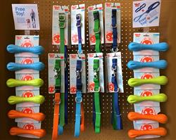 FREE HURLEYS - Jaunts & Strolls Collars and Leashes with Free Hurley case pack promo pack