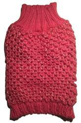 Crochet Knit Sweater Fuchsia Metallic