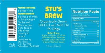 Stu's Brew CBD Oil - 1oz