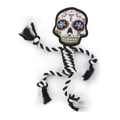 Sugar Skulls w/rope white large by goDog