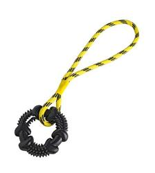 Hunter Dog Toy Spike Ring, with rope, HUNTER International, Germany