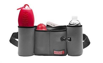Kong Neoprene Double Bottle Holder Waistpack - Grey