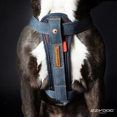 EzyDog Denim Chest Plate Harness - Friday Collective!