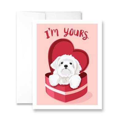 Valentine's Day I'm Yours (blank) Greeting Card - Pack of 6 cards
