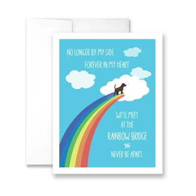 Rainbow Bridge (blank) Greeting Card - Pack of 6 cards