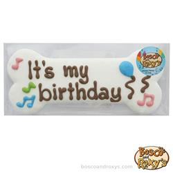 "Birthday Paw-ty Collection, Prepackaged I8"" It's My Birthday Bone, 8/Case, MSRP $7.99"