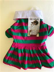 POLO DRESS/PINK&GREEN /SIZE MEDIUM