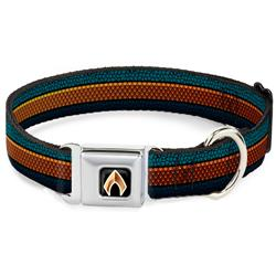 AQUAMAN Scales Stripe Blues/Golds Collars & Leads by Buckle-Down