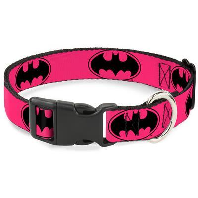 Bat Signal-3 Fuchsia/Black/Fuchsia Collars & Leads by Buckle-Down
