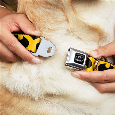 Bat Signal-5 Black/Yellow/Black Collars & Leads by Buckle-Down