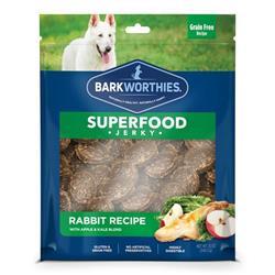 Barkworthies - Rabbit Jerky Recipe with Apple & Kale Blend (Net. Wt. 12 oz. SURP)