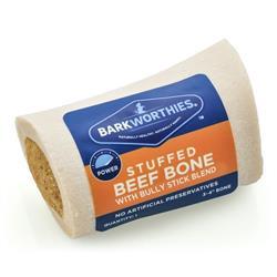 "Barkworthies - 3-4"" Shin Bone Stuffed with Bully Stick Blend"