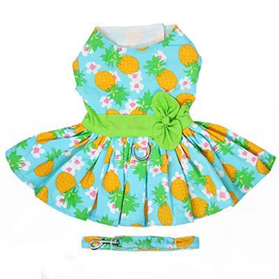 Pineapple Luau Dress w/ Leash & D-Ring