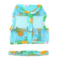 Pineapple Luau Cool Mesh Harness w/ Leash & D-Ring