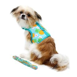 Pineapple Luau Fabric Harness w/ Leash & D-Ring
