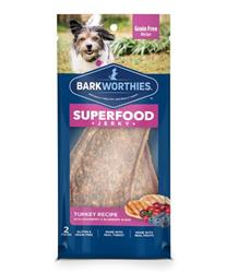 Barkworthies - Turkey Jerky Recipe with Blueberry & Cranberry Blend 2-pk.-Flow Pack
