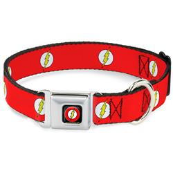 Flash Logo Red/White/Yellow Collars & Leads by Buckle-Down