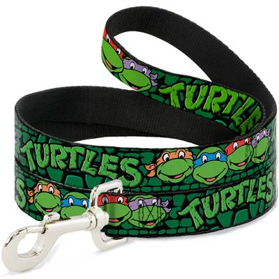 Classic TMNT Group Faces/TURTLES Turtle Shell Black/Green Collars & Leads by Buckle-Down