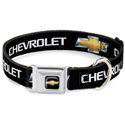 Chevy Bowtie Black/Gold Logo REPEAT Collars & Leads by Buckle-Down